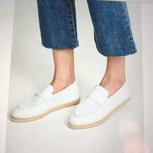 Vince Leather Espadrille Loafers Daria